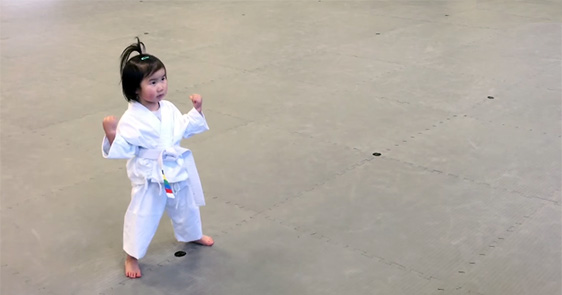 This 3-Year-Old White Belt Will Lift Your Spirits