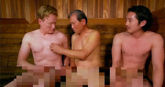 Conan O'Brien & Steven Yeun Go To A Korean Spa. What happened there is hilarious