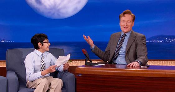 Super Smart Kid Thinks Conan O'Brien Won't Get His Science Jokes