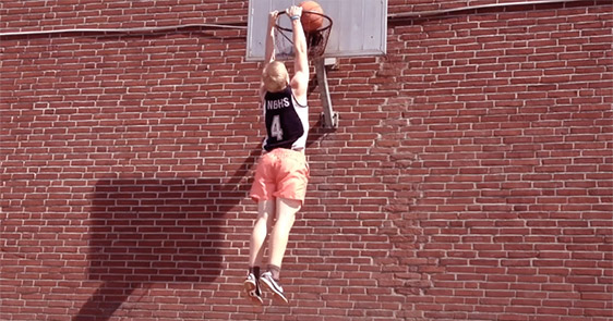 This Average Height White Teenager Trained For Half A Year To Dunk A Basketball
