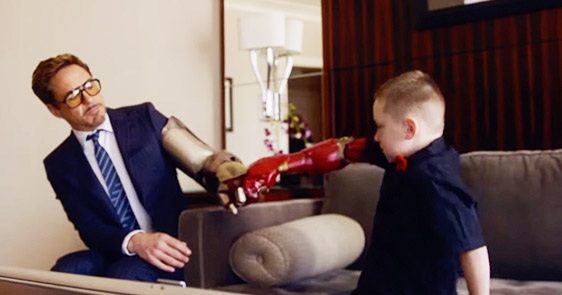 7-Year-Old Boy Gets A Working Bionic Arm From Ironman Himself, Robert Downey Jr.