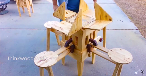 The Most Awesome And Ingenious Folding Table You'll Ever See.