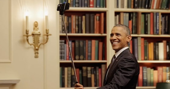 President Obama Plays With A Selfie Stick